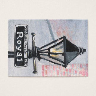 Royal Street Lamp Post Business Card