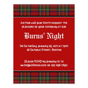 Burns Night Invitations Announcements Zazzlecouk