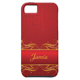 Royal Swirls of Gold On Red iPhone 5 Covers