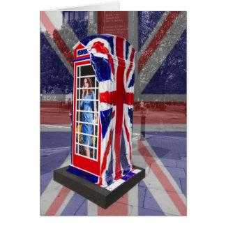 Royal telephone box card
