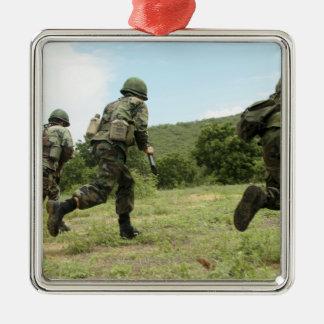 Royal Thai Marines rush forward to secure the s Christmas Ornament