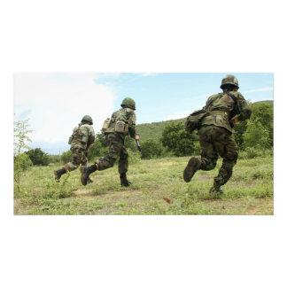 Royal Thai Marines rush forward to secure the s Photo Print