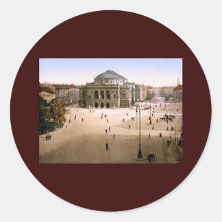 Royal Theatre Copenhagen Denmark Classic Round Sticker