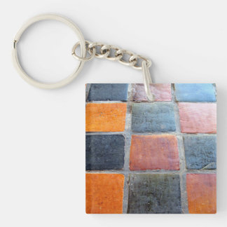 Royal Tiles Double-Sided Square Acrylic Key Ring