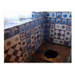 Royal Toilet in Rosenborg Castle, Copenhagen Postcard