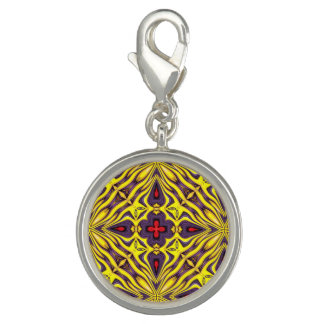 Royal Vintage Kaleidoscope Pattern  Charm