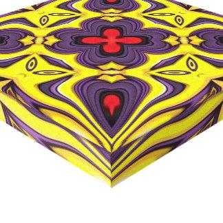 Royal  Vintage Kaleidoscope Wrapped Canvas