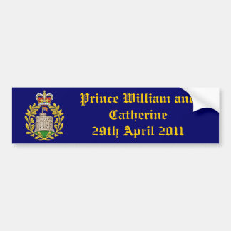 Royal Wedding Bumper Sticker