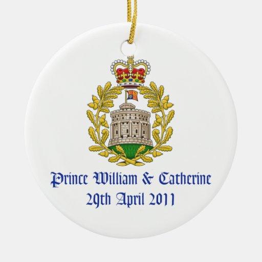 Royal wedding christmas tree ornament zazzle for Engagement christmas tree ornaments