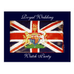 Royal Wedding Coat of Arms Watch Party Postcard