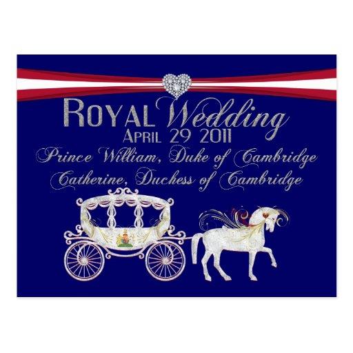 Royal Wedding Duke and Duchess of Cambridge Postca Post Cards