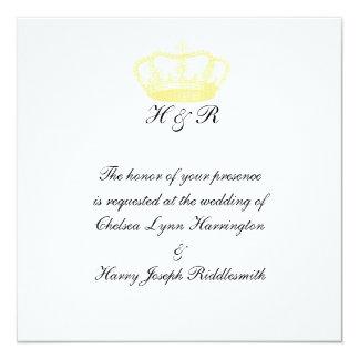 Royal Wedding -  Gold 13 Cm X 13 Cm Square Invitation Card