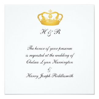 Royal Wedding II -  Gold Personalized Invite