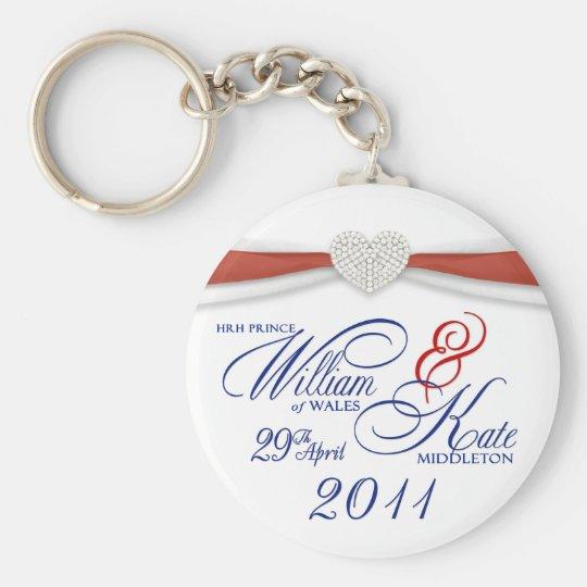 Royal Wedding Souvenir - William & Kate Key Rings Basic Round Button Key Ring
