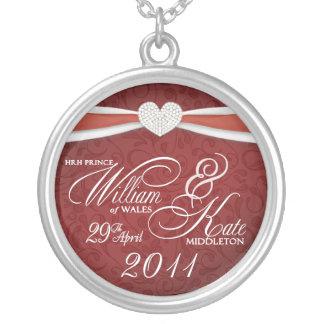 Royal Wedding Souvenir - William & Kate Pendant