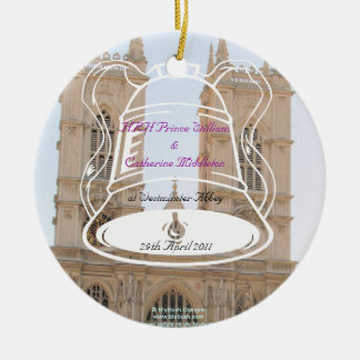 Royal Wedding Souvenirs Round Ceramic Decoration