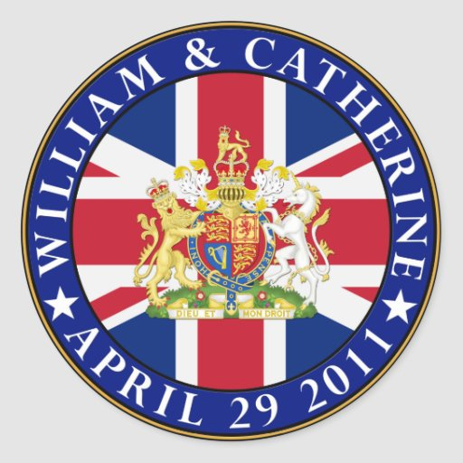 Royal Wedding Round Sticker