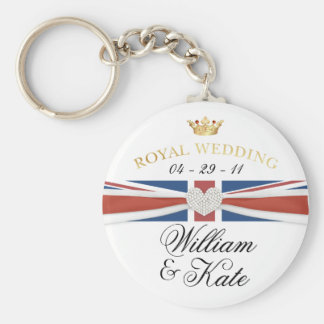 Royal Wedding - William & Kate Commemoratives Basic Round Button Key Ring