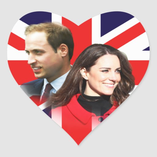 Royal Wedding - William & Kate Heart Stickers