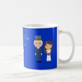 Royal Wedding Wills & Kate Cute Cartoon Basic White Mug