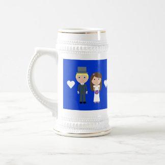 Royal Wedding Wills & Kate Cute Cartoon Beer Steins