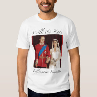 Royal Wedding Wills & Kate Tee Shirts