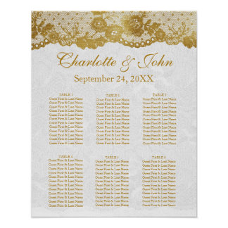 Royal White Gold Lace Seating Chart Poste