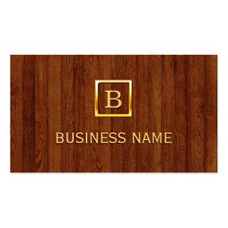 Royal Wood Stripes Apps developer Business Card