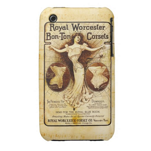 Royal Worcester corsets Case-Mate iPhone 3 Case