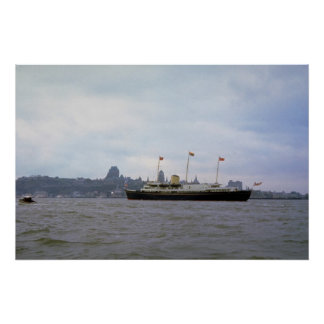 Royal yacht Britannia on St Lawrence River Que Posters