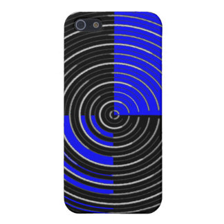 RoyalBlue n Silver Streak Cover For iPhone 5/5S
