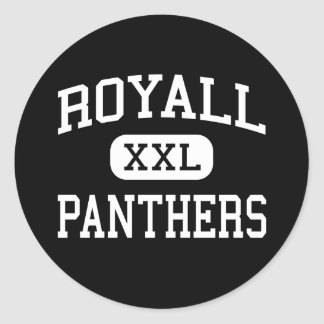 Royall - Panthers - High School - Elroy Wisconsin Round Sticker