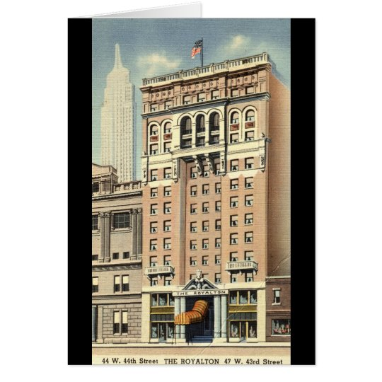 Royalton Hotel New York City Vintage Card