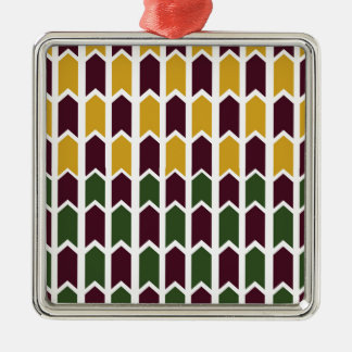 Royalty Checkered Panel Fence Silver-Colored Square Decoration