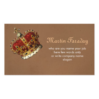 royalty king crown business card standard business cards