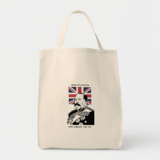 Royalty Rules - King Edward the VII Tote Grocery Tote Bag