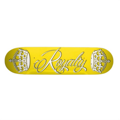 Royalty Skateboard Deck Yellow