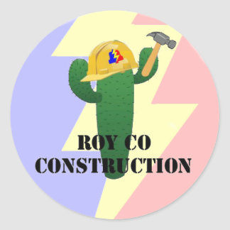 Royco Construction Classic Round Sticker