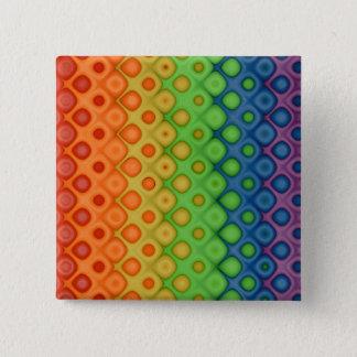 ROYGBIV Rainbow Bubbles Distorted Colors 15 Cm Square Badge