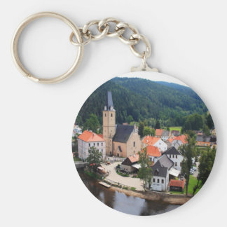 Rozmberk town key ring