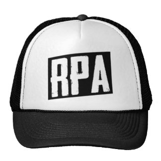RPA™ Style Trucker Hat White And Black