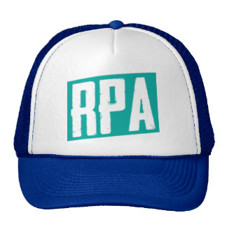 RPA™ Style Trucker Hat White And Blue