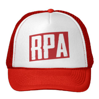 RPA™ Style Trucker Hat White And Red