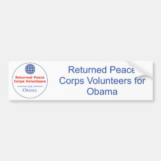RPCVS For Obama Bumper Sticker