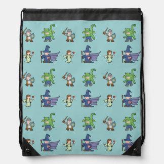 RPG Cartoon Kids - Drawstring Backpack