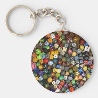 RPG game dice Key Ring