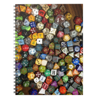 RPG game dice Notebooks