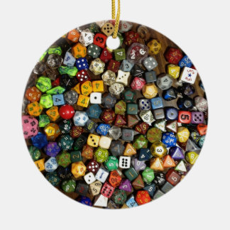 RPG game dice Round Ceramic Decoration