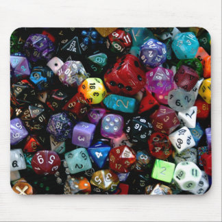 RPG Multi-sided Dice Mouse Mat