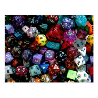 RPG Multi-sided Dice Postcard
